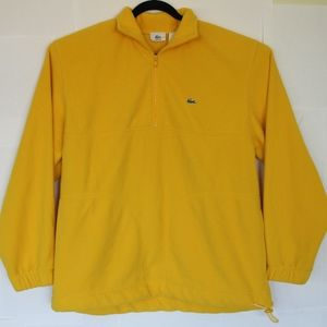 Lacoste Yellow Pullover 1/4 Zip Sweater Sz 5